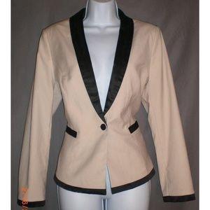 H&M Tan & Black Tuxedo Jacket